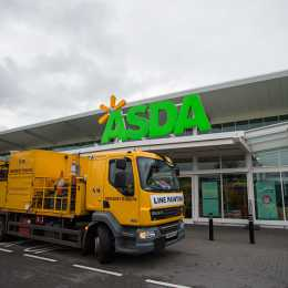 Northern Marking truck outside Asda